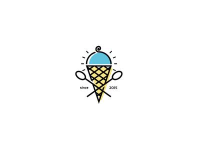 Cafe-gelato logo branding logo