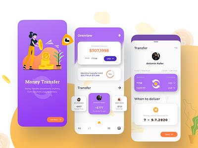Money Transfer Mobile App UI kit