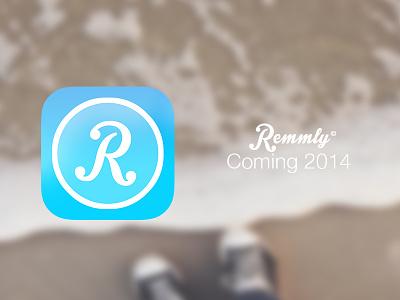 Remmly Icon logo ios7 icons ui flat ios iphone app invite interface apple redesign