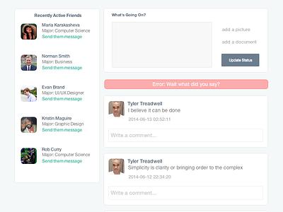 Error Message UI ux flat illustration web design social icons