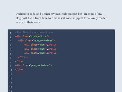 Code Box text editior flat ui