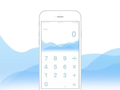 Daily Design #1 Nov 18 iphone flat ui calculator daily design