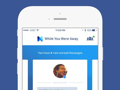 Daily Design Messenger  ui facebook messenger dailyui
