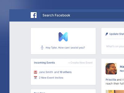 Facebook Newsfeed Redesign 2016 concept dailydesigns dailyui redesign newsfeed facebook
