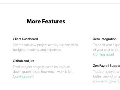 Scoreboard Product Page // Part II coming soon tag feature list