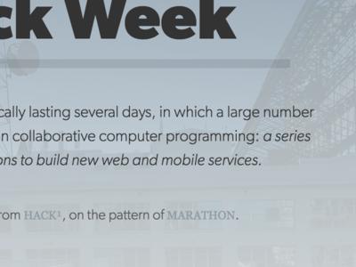 Hack Week-ing