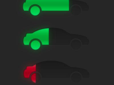 Progress Car car cars progress bar glow inset