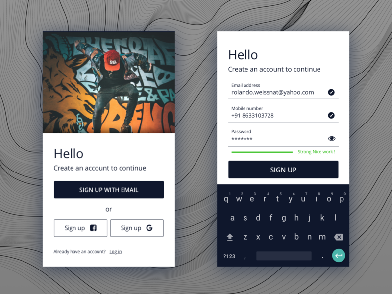 Landing Page | Dreamkatcher password forms login page landing page web material android dailyui signup login 2d design app ux ui