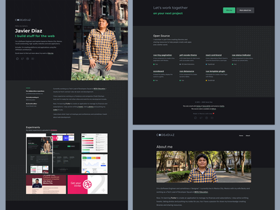 New Portfolio — Homepage web ux dark mode dark theme clean design dark ui clean ui darkmode dark clean ui redesign colors design