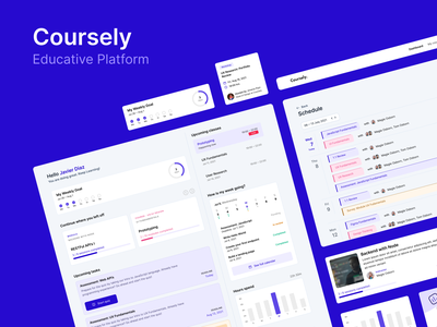 Ed-tech — Coursely Web Platform e-learning online courses schedule classes events web design courses learning interface dashboard educative edtech platform web ux design ux ui design ui education design