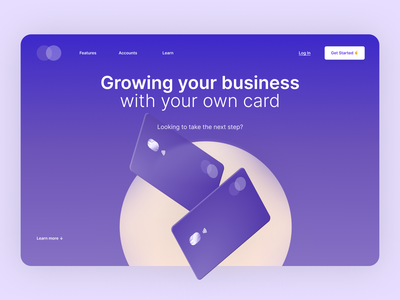 Banking Card 💳 | Hero section clean ux design concept ui webdesign ux credit card exploration header hero section landing page bank card banking bank