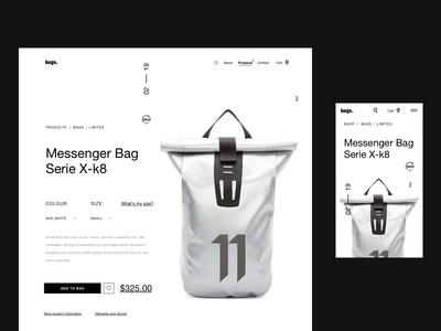 Simple Bag Product Site