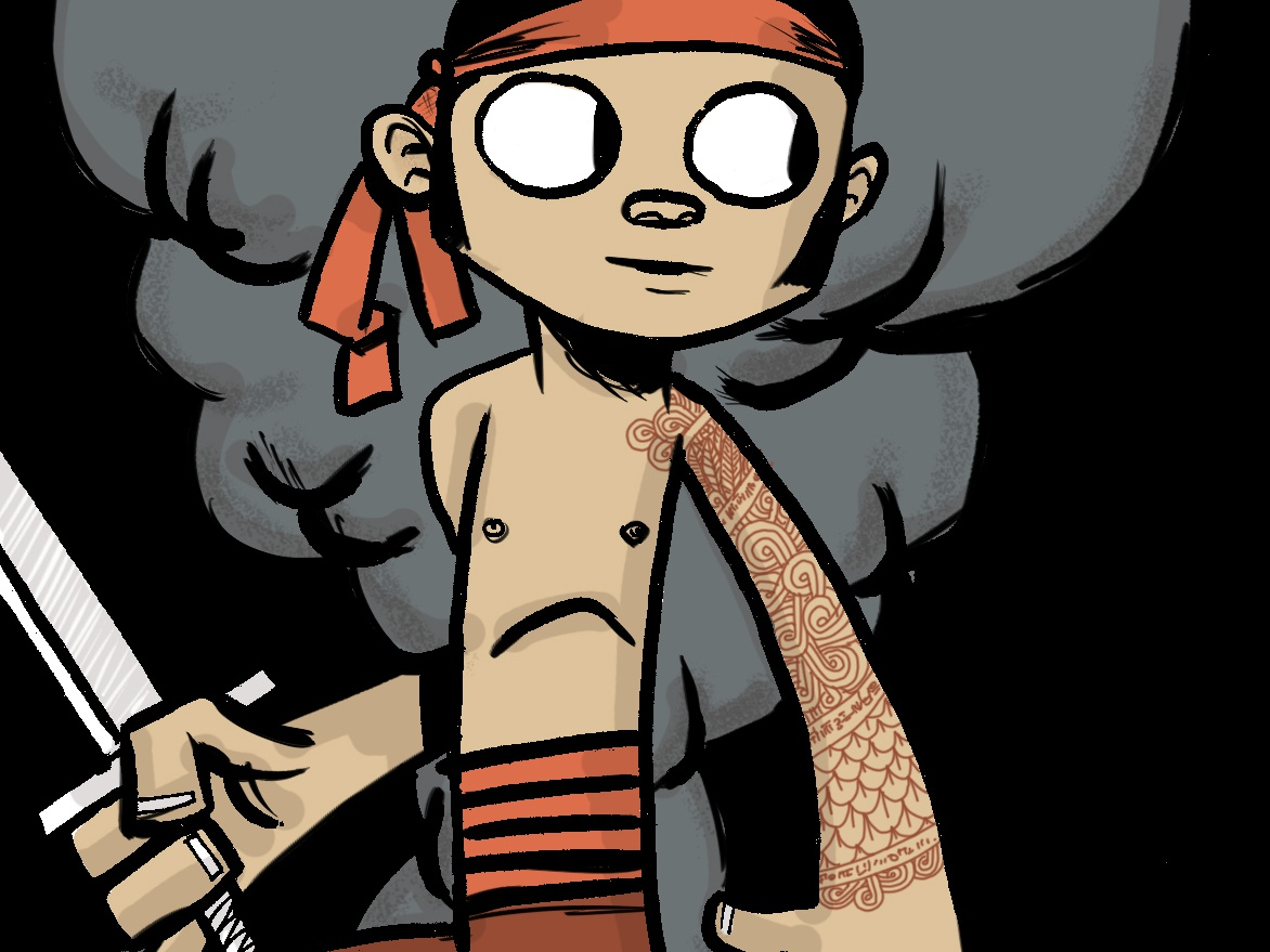 kozure samurai japan illustration children book illustration charactedesign