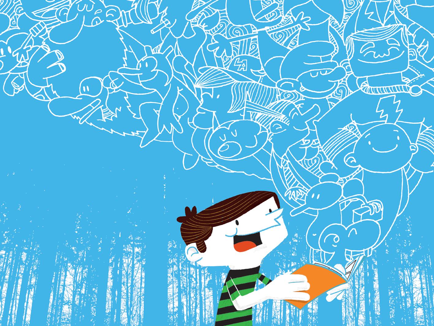 magic book! book illustration cartoon children book illustration charactedesign