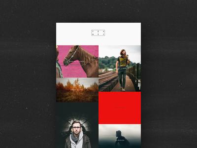 Frames Grid Exploration  grid type layout simple images color block