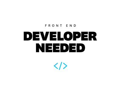 Front End Developer Needed