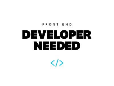 Front End Developer Needed