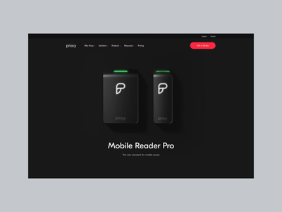 Proxy Mobile Reader Pro dark product video background web