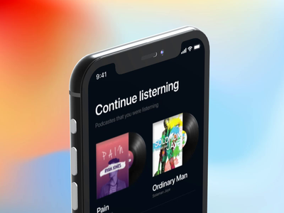 Podcast Service - Mobile app live album design interaction apple show lyrics song mobile ui uiux ui ux apple music spotify music podcast