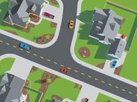 Birdseye view of neighborhood