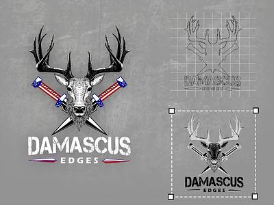 Damascus Edges Logo website design website logo design logodesign typography ux ui business card design vector logo minimal brand identity illustration branding