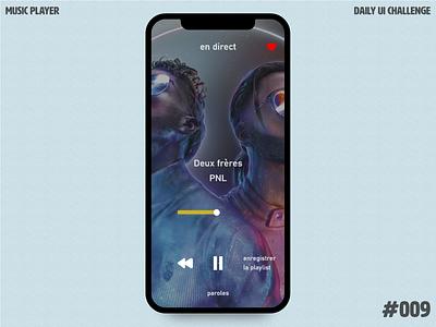 Daily UI Challenge 009 - Music Player playlist radio app uxdesign app design frenchie pnl pastel color uidesign music player daily ui 009 ios dailyui
