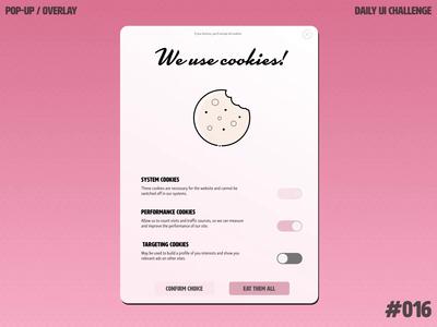 Daily UI Challenge 016 — Pop-up / Overlay