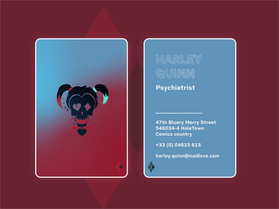 Weekly Warm-Up 002 — Business Card (Harley Quinn)