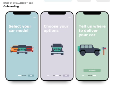 Daily UI Challenge 023 — Onboarding