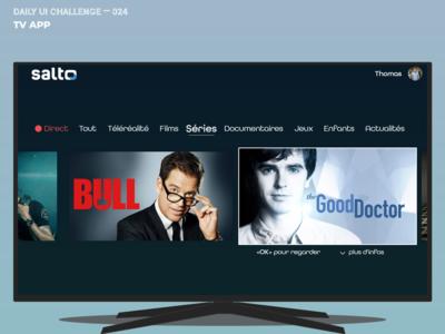 Daily UI Challenge 025 — TV  App (work in progress