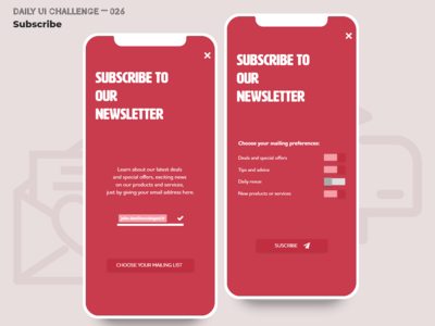 Daily UI Challenge 026 — Subscribe
