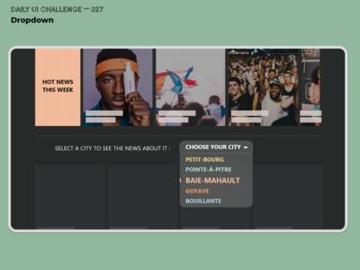 Daily UI Challenge 027 — Dropdown