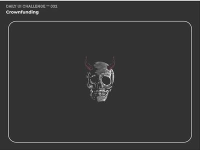 Daily UI Challenge 032 — Crowdfunding (animated)