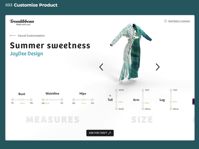 Daily UI Challenge 033 ⸺  Customize Product