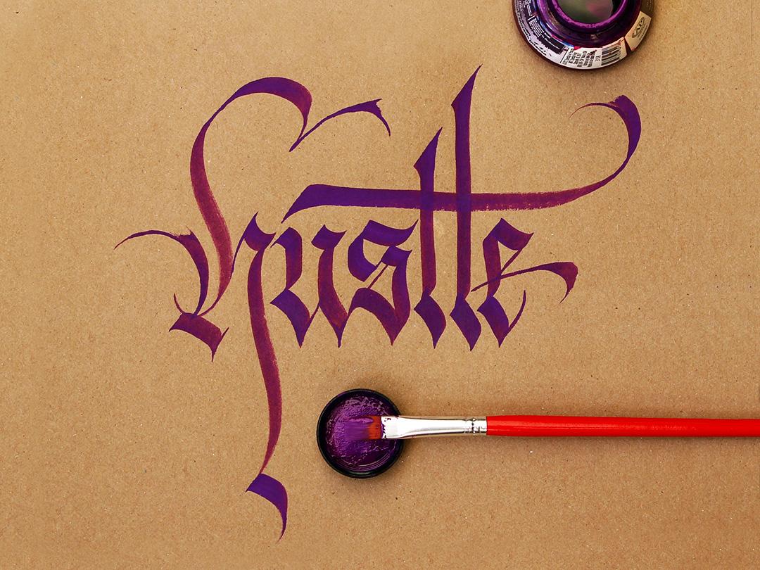 Callivember_hustle design calligraphy