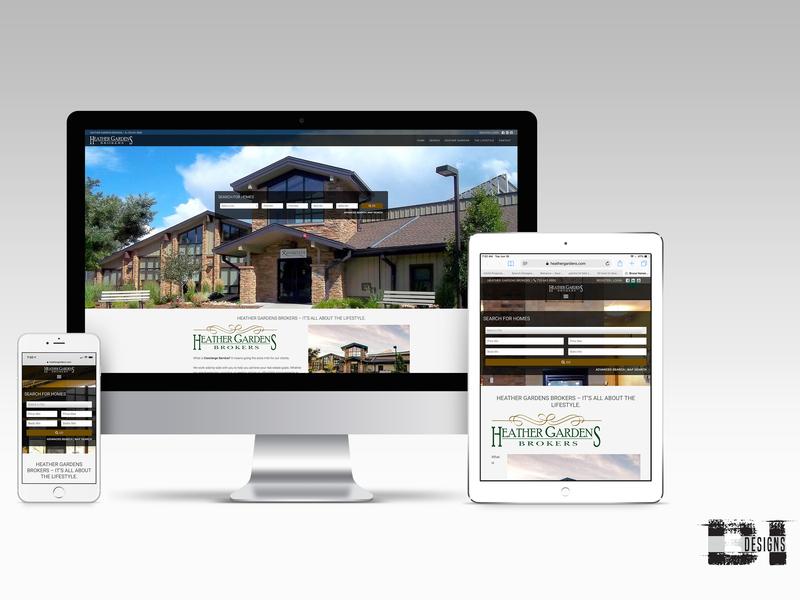 Heather Gardens Brokers graphic design website design webdesign website uiux ux ui