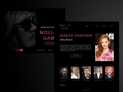 Molly's Game Movie Website