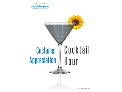 Solar Cocktail Hour overlay branding poster photoshop photography univers reflection