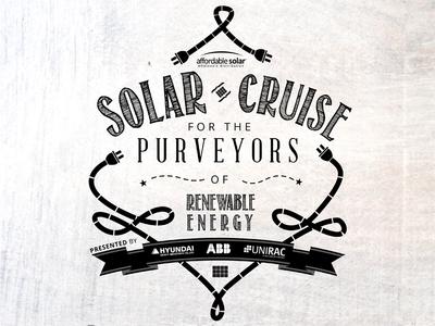 Solar Boat Cruise black and white fun invitation print electric solar boat nautical