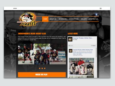 Swakopmund Hockey (built on Wix) orange drag and drop sports hockey website black and white wix