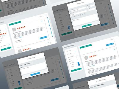 Reputation App ui dashboard web app front end ux ui