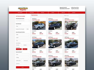 Vehicle Search / Details front end web design ux ui