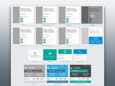 Automated Marketing App front end app ux ui ui dashboard