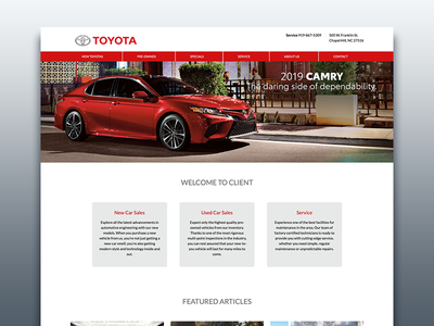 Dealership Website Platform web front end web design ux ui