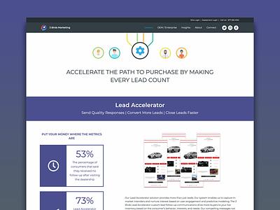 3 Birds Marketing Website web front end web design ux ui