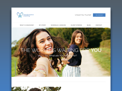 Transformative Coaching Website front end web web design