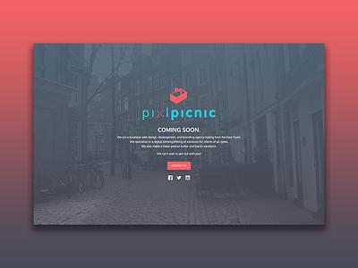 pixlpicnic Landing Page front end web web design