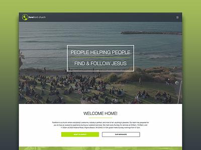 Forefront Church Website front end web web design