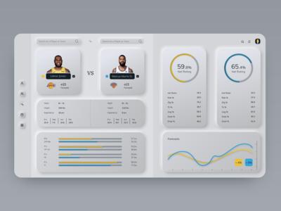 NBA Statistics App Concept