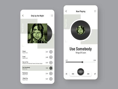 Music Player App 🎵 appuidesign app designer album art playlist player minimal app design product design uxdesign ui design bands music music player music app